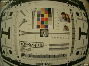 Пример бочкообразного искажения объектива с фокусным расстоянием 2.8